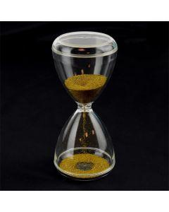 Klepsydra z złotym piaskiem 1 min, 15cm