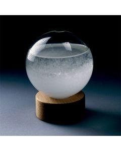 Stacja Pogody, Storm Glass, Barometr chemiczny, Kula podstawa owalna 10cm