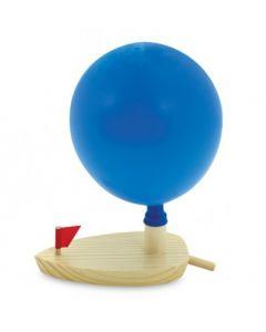Drewniana łódź balonowa / odrzutowa