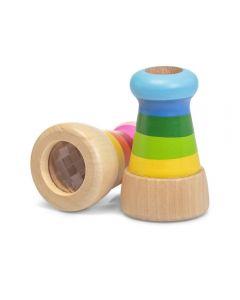 Drewniany kolorowy kalejdoskop Wooden Miragescope