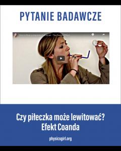 Efekt Koanda - dmuchajka/PHYSICSGIRL